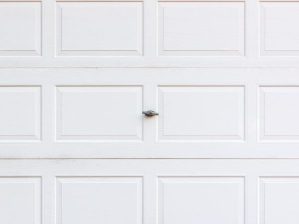 White garaged door