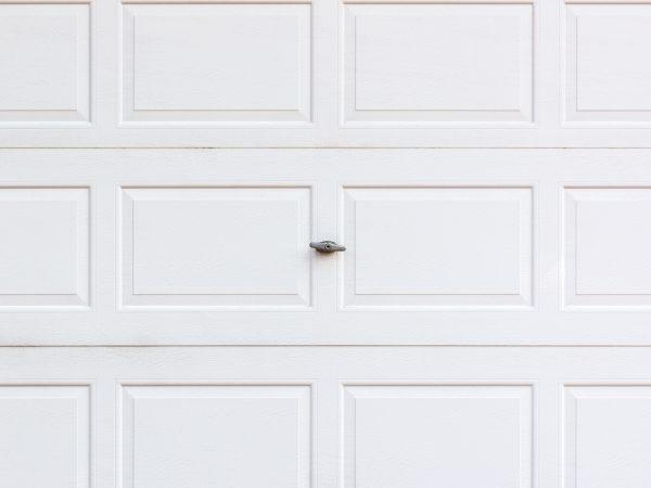 White garaged door